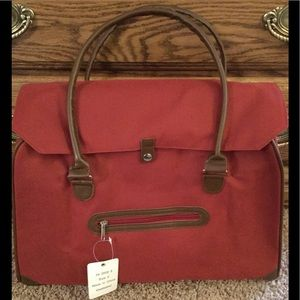 NWT With Tag Large Red Tote Bag